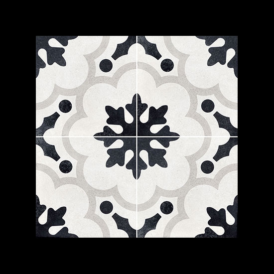Cementine black white the tile people for Posa alzatina cucina