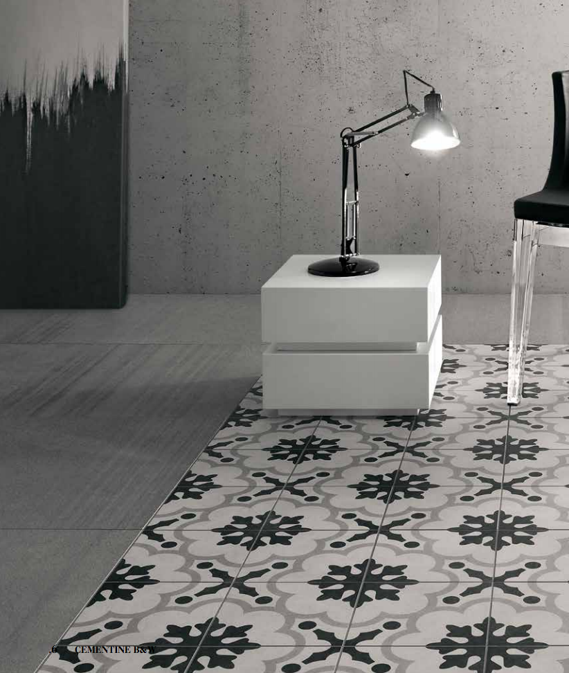 Cementine black white the tile people description dailygadgetfo Choice Image