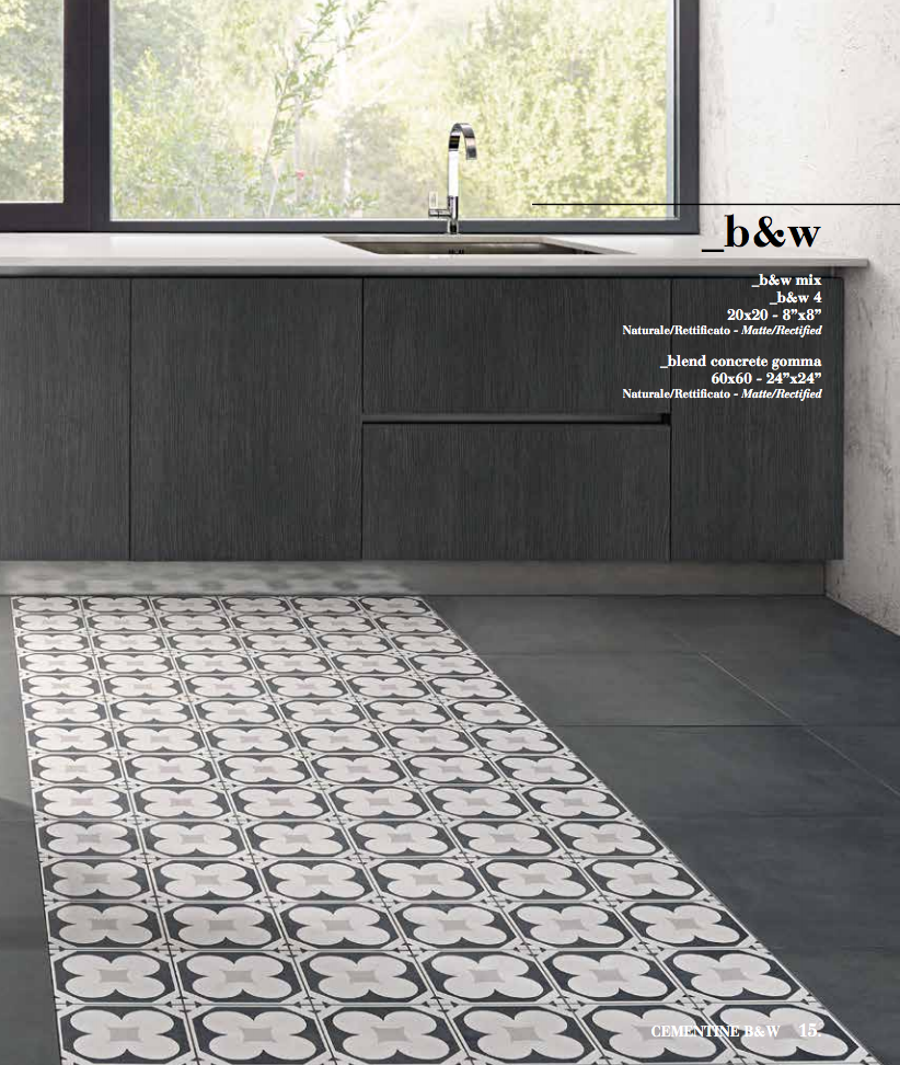 Cementine Black Amp White The Tile People