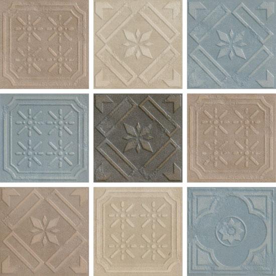 Piastrelle bagno ceramica fioranese formelle20 mix 4 colori 1 the tile people - Colori piastrelle bagno ...